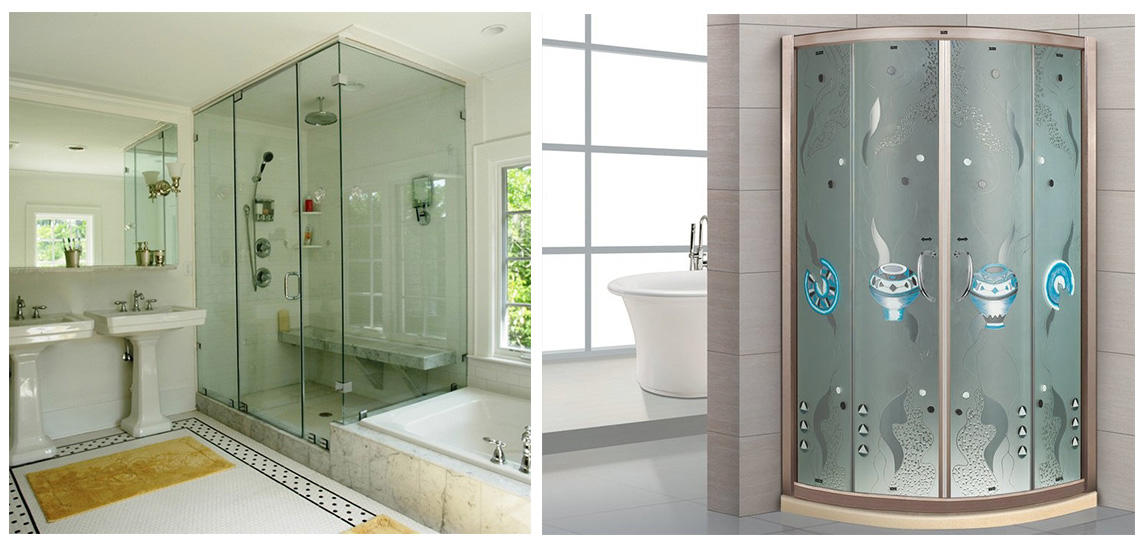 JinYi ODM toughened glass door painted colour for bathroom door-3