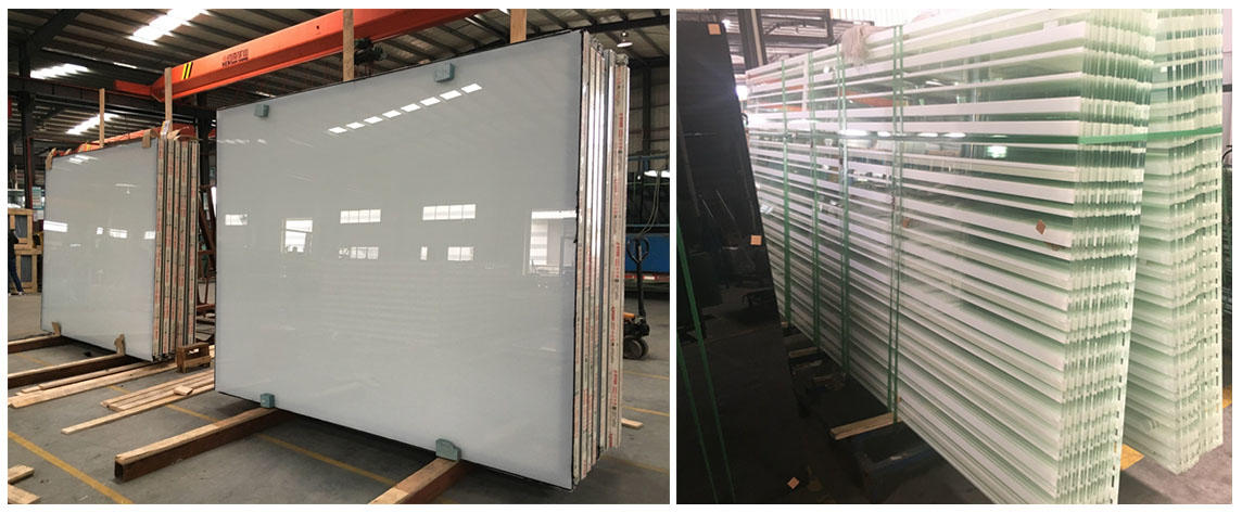 JinYi tempered tempered glass panels pattern for bathroom door