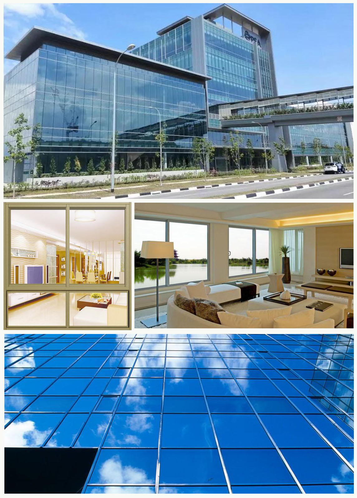 JinYi tempered insulated glass panels facade for curtain-6
