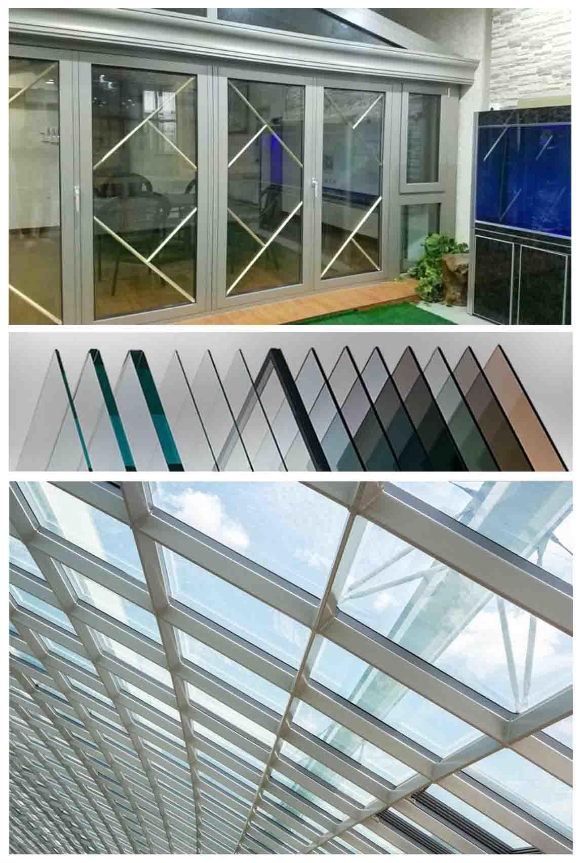 frameless frosted tempered glass wall panel customized design for showering enclosure