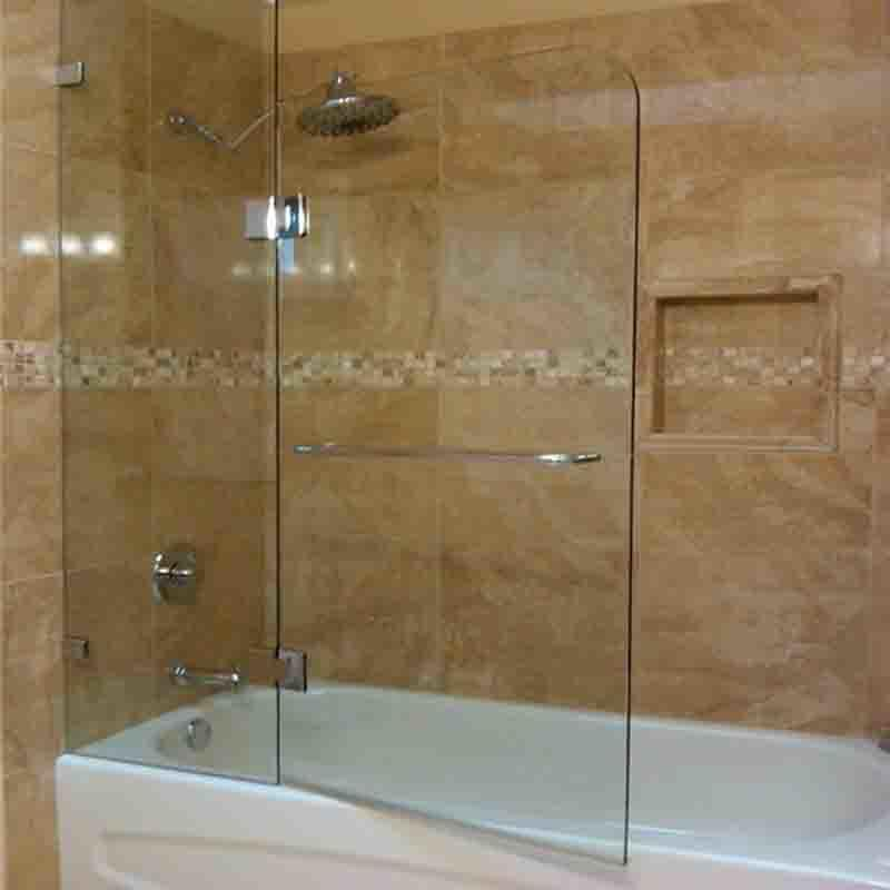 Glass shower bathroom door frameless tempered glass wall panel