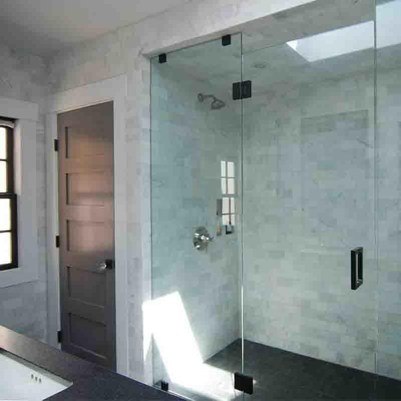 Glass shower bathroom door frameless tempered glass wall panel