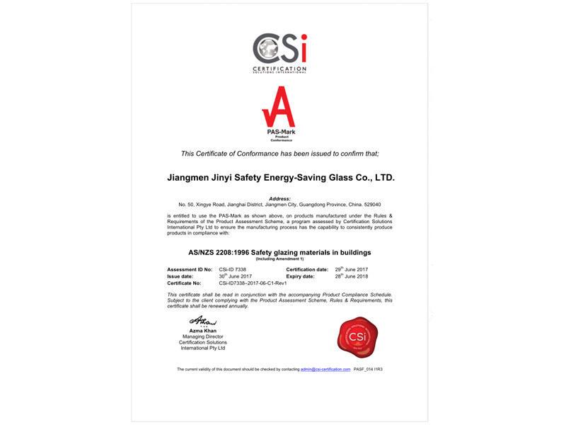 7338_C1-Certificate of Conformance