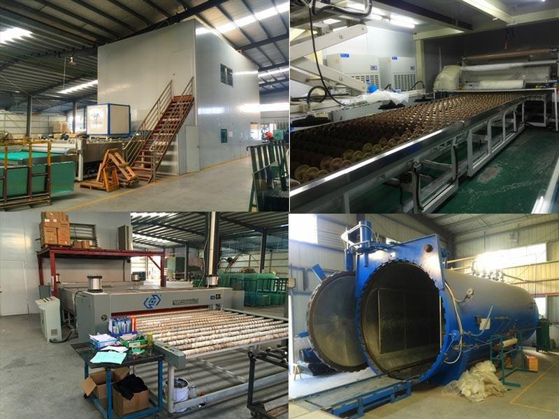 Processing line for laminated glass