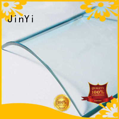 JinYi customized curved glass order now for office building