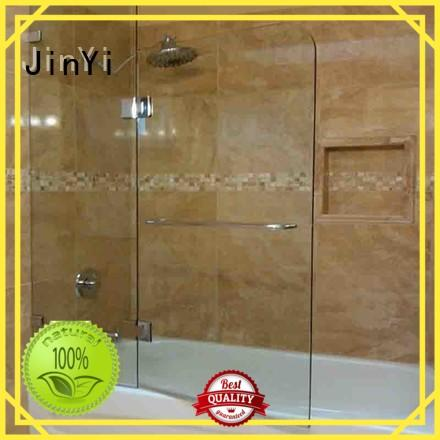 JinYi tempered clear tempered glass painted colour for showering enclosure