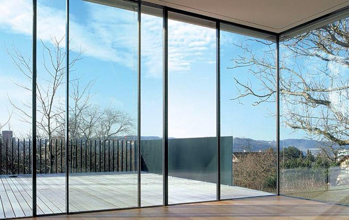 frameless frosted tempered glass wall panel customized design for showering enclosure-2