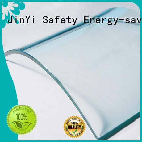 JinYi color customized curved glass at discount indoor