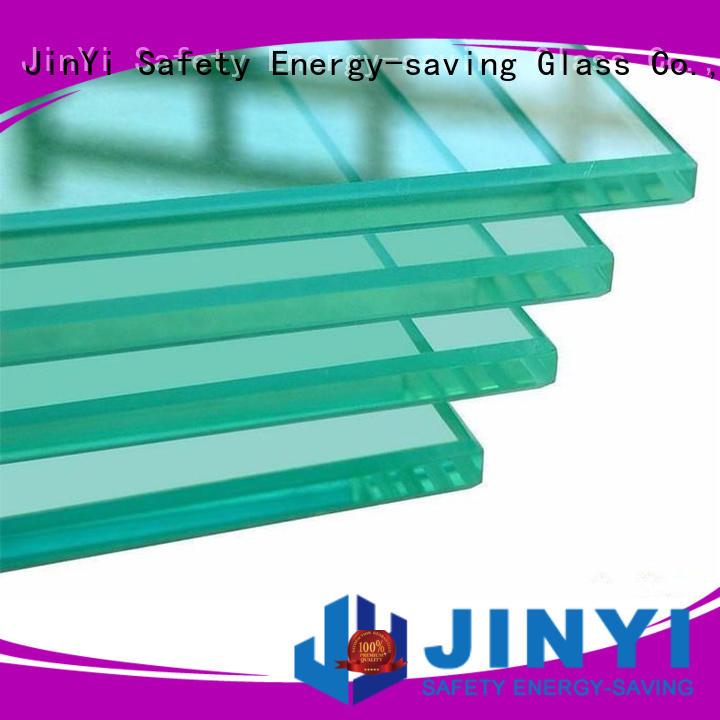 JinYi wall panel safety glass windows customized design for bathroom door