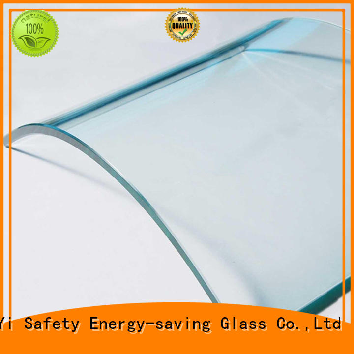 JinYi all sizes curved glass panels at discount for window