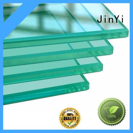 JinYi OEM balcony tempered glass customized design for bathroom door