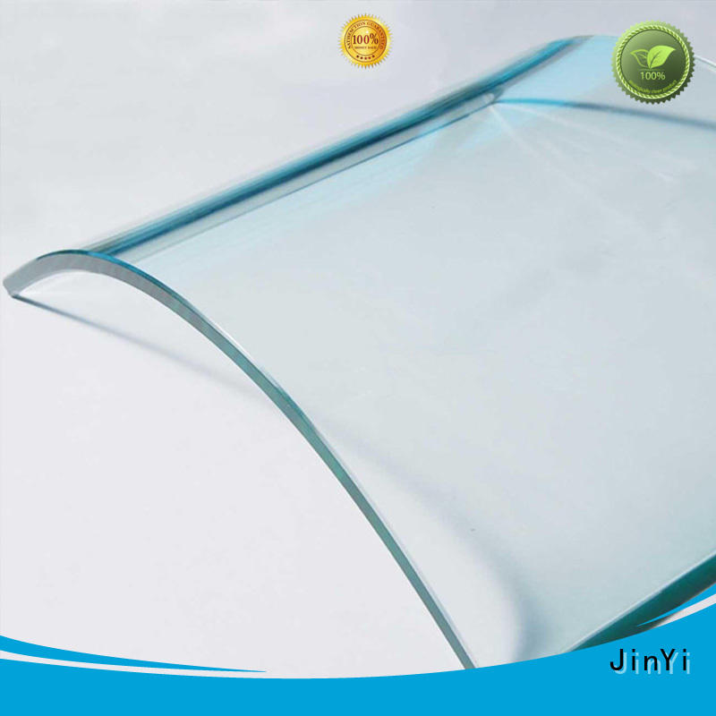 JinYi customized curved glass panels for wholesale indoor