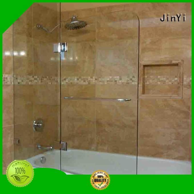 JinYi ODM toughened glass door painted colour for bathroom door