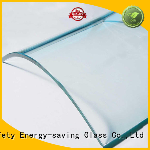 JinYi shaped custom curved glass for wholesale for office building
