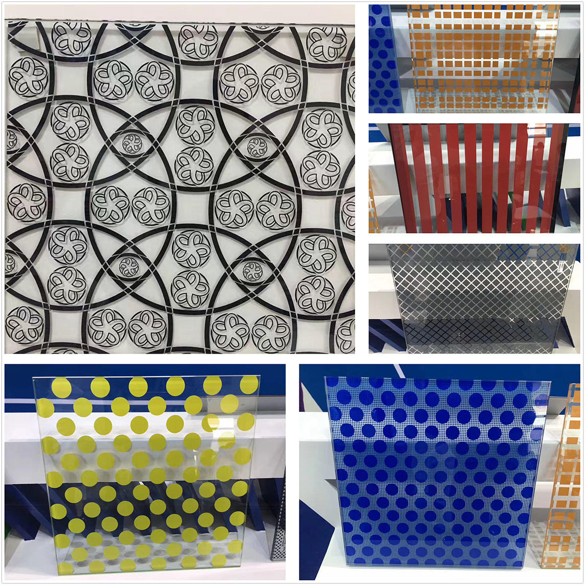 JinYi tempered tempered glass panels pattern for bathroom door-2