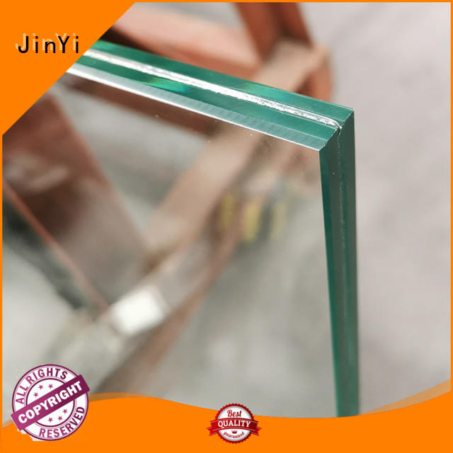 JinYi frameless laminated glass factory for safety