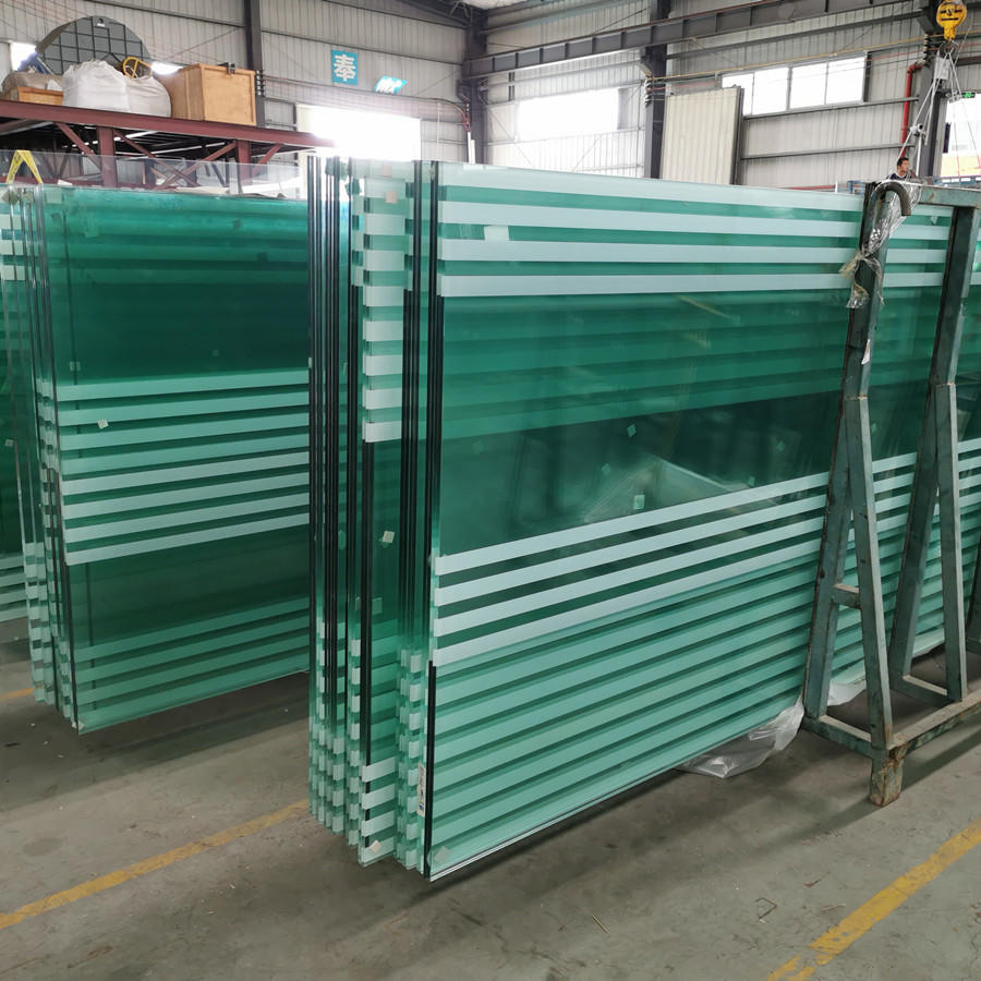 Laminated pattern glass decorative ceramic frit glass for building