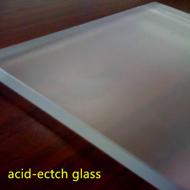China white frosted glass building tempered acid etch types of frosted glass