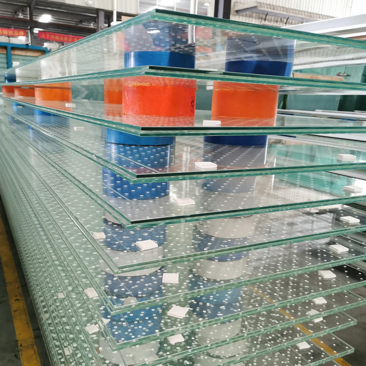 VSG Ultra clear ceramic frit tempered laminated glass for curtain wall