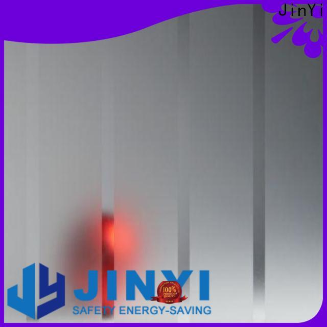 JinYi tempered glass cost per square foot decorative for shower