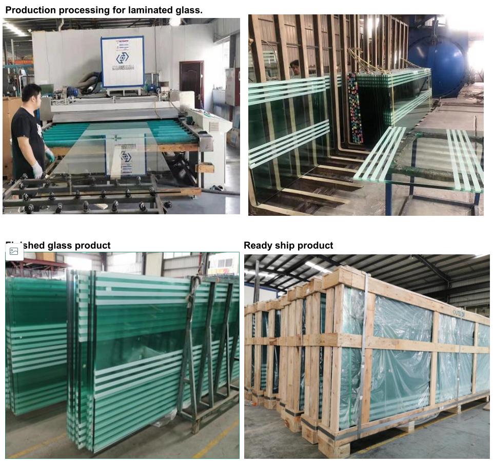 JinYi frameless white laminated glass factory outdoor-2