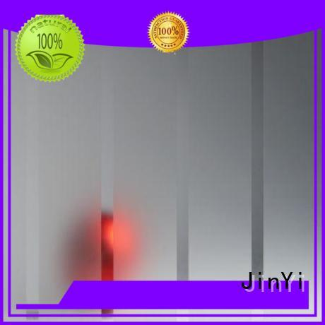 JinYi OEM tempered glass panels clear for bathroom door