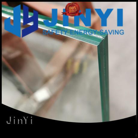 JinYi price laminated glass factory outdoor