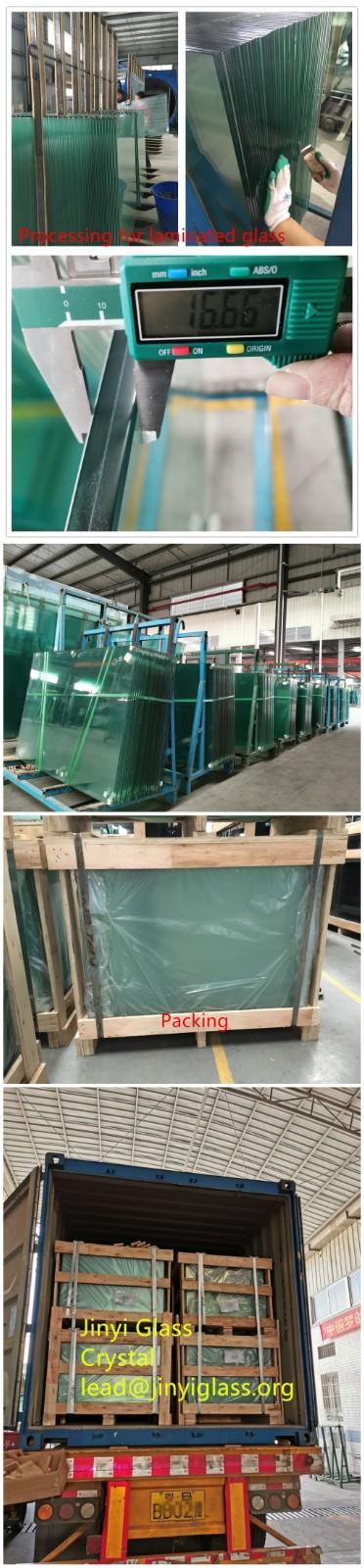 JinYi frameless laminated glass factory for safety-2