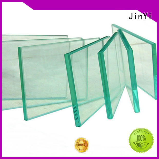 JinYi durable toughened glass panels painted colour for bathroom door
