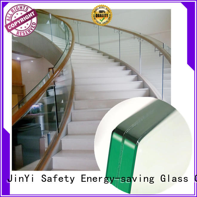 JinYi wholesales white laminated glass manufacturer for safety